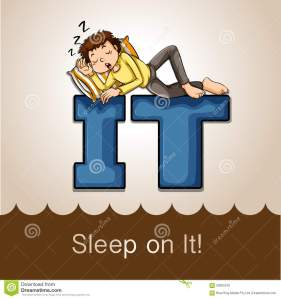 idiom-sleep-illustration-58365318